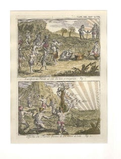 Offers and Sacrifices to the Sun among the Floridians - by G. Pivati - 1746-1751