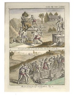 Funeral Honours and Burial of the Peruvian Leaders - by G. Pivati - 1746-1751