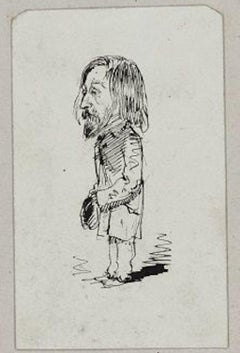 Dupendant - Original Pen Drawing by Unknot French Artist End of 19th Century