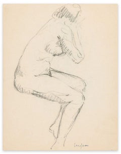Female Nudes - Original Charcoal Drawing y Unknown Artist Early 20th Century