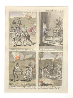 Funeral Ceremonies among the Mexicans and Venezuelans - by G. Pivati - 1746/1751