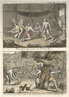 The Wedding among the Indians of Panama - Etching by G. Pivati - 1746/1751