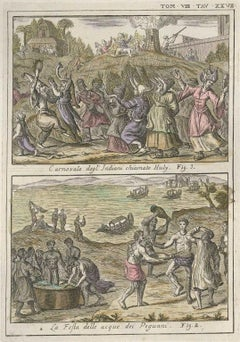 Huly Carnival and Water Party - Etching by G. Pivati - 1746/1751