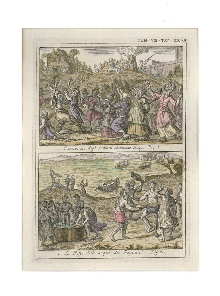 Huly Carnival and Water Party - Etching by G. Pivati - 1746/1751 - Print by Gianfrancesco Pivati