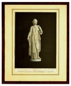 Simulacro di Diana - Origina Etching After Agostino Tofanelli - 1821