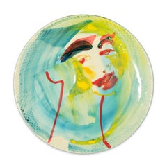 Look at You - Original  Hand-Made Flat Ceramic Dish by A. Kurakina - 2019