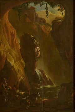 The Cavern - Original Oil on Panel by Ottavio Viviani - Early 17th Century