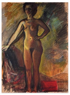 Nudes - Tempera and Carboard on Paper - Early 20th Century