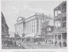 Hotel Saint-Charles - Original Woodcut Print by A. Deroy - 1880