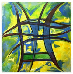 Abstract Expression  - Oil Painting 1994 by Giorgio Lo Fermo