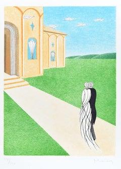 Marriage - Original Lithograph by Adam Moussa - 1980