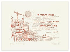 Lost Time - Original Etching by Giuseppe Megna - 1976