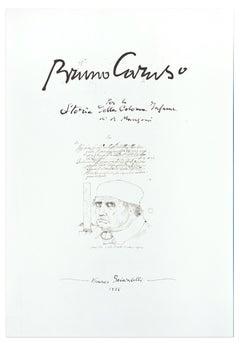La peste, il Sospetto, la Colonna Infame - Original Lithograh by B. Caruso- 1985