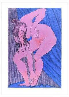 Alina - Original Lithograph by Stefania Guidi - 1993
