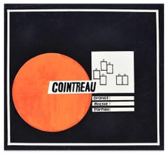 Cointreau - Original Mixed Media by A. Matheos - Mid 20th Century