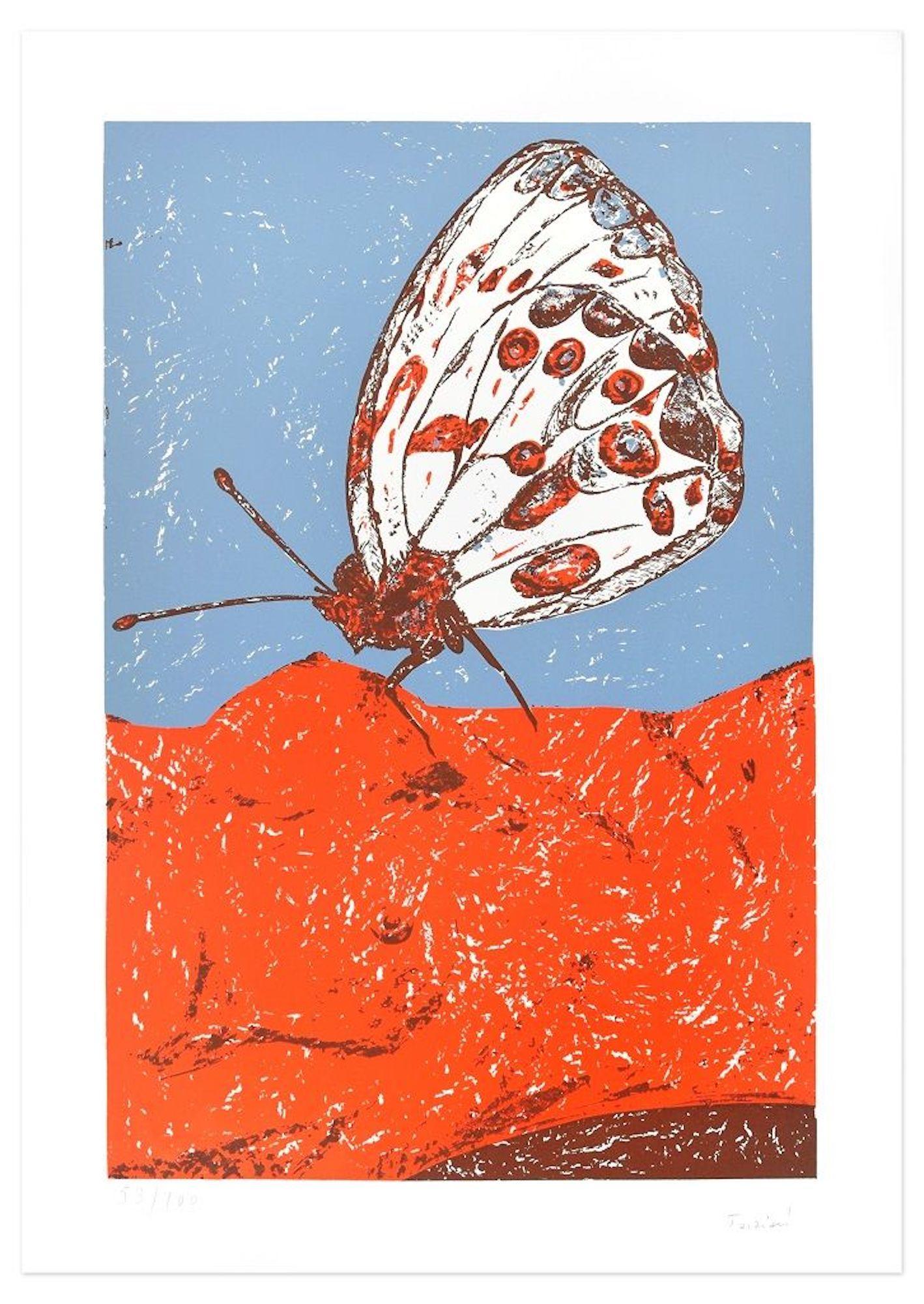 Butterfly - Original Lithograph by Nino Terziari - 1970s