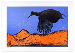 Black Bird - Original Lithograph by Nino Terziari - 1970s