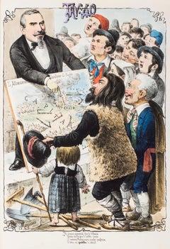 Giuseppe Andrea Angeloni - Original Lithograph by Antonio Manganaro - 1870s