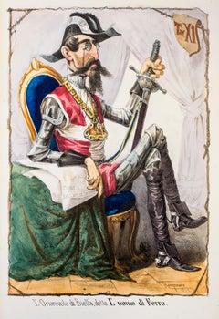 The Iron Man - Original Lithograph by Antonio Manganaro - 1872