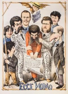 Ecce Homo - Original Lithograph by A. Maganaro - 1874