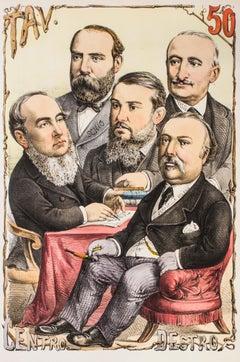 Centro Destro - Original Lithograph by A. Maganaro - 1870s