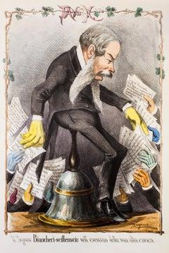 Il Signor Biancheri-scillensciu - Original Lithograph by A. Manganaro - 1870s
