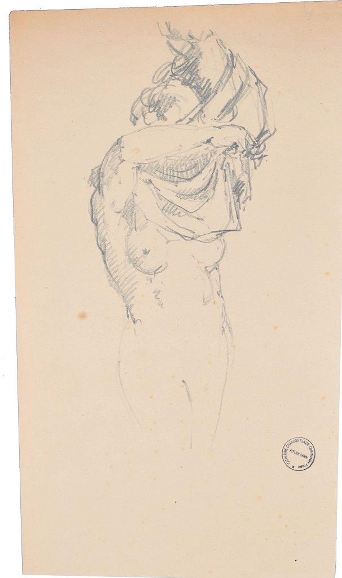 Drawing Undress Man In Art