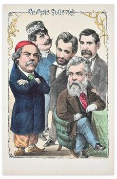 Centro Sinistro - Lithograph by A. Maganaro - 1870s
