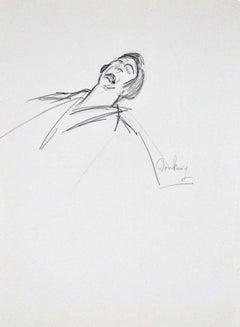 Pathos - Original Charcoal Drawing by Flor David - 1950s