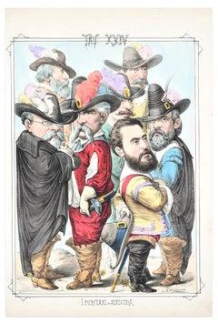 I Puritani di Sinistra - Lithograph by A. Maganaro - 1870s