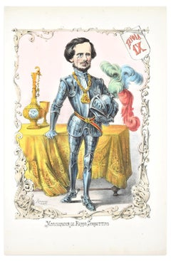 Monsegneur Le Baron Sorbettino - Lithograph by A. Maganaro - 1872