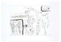 A Day on the Hill - Original Etching by Renzo Biasion - 1966