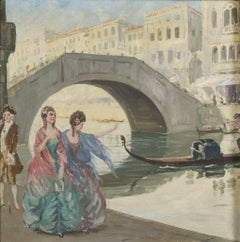 Pair of Oil Paintings Italian School Early 20th Century