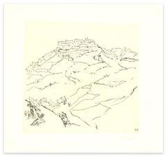 Landscape - Original Etching by Renzo Biasion - 1960s