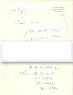 Autograph Letter by Cocteau - 1959