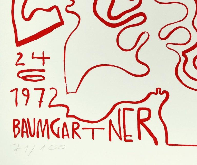 Spoleto - Original Screen Print by Fritz Baumgartner - 1972 For Sale 1