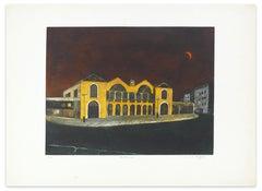 Montparnasse - Original Etching by Jacques Joachim Jean Rigal - 1970s