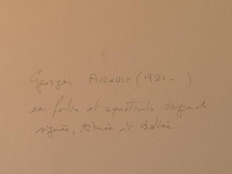 L'Homme Figé - Original B/W Etching by G. Arnulf - 1973 - Contemporary Print by Georges Gaston Arnulf