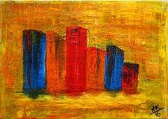 City 2 - Original Acrylic by A.M. Caboni - 2016