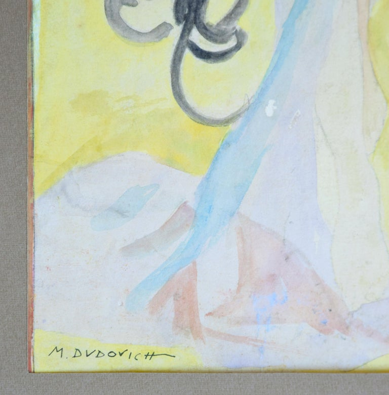 Portrait of Woman - Original Watercolor on Paper by M. Dudovich - 1920 For Sale 2