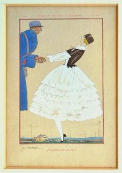 Permissionaire  - Original Gouache by Georges Lepape - 1919