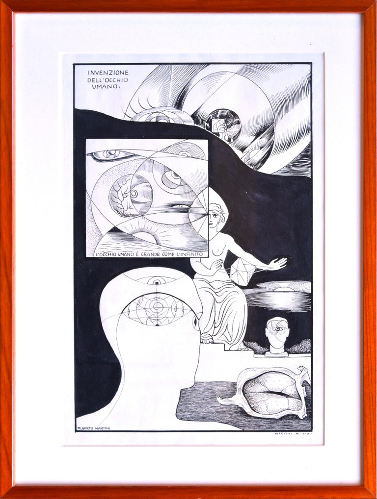 Invention of the Human Eye - Original China Ink on Paper by A. Martini - 1935 2