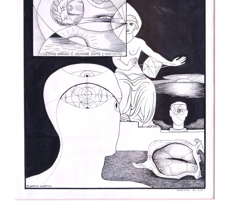 Invention of the Human Eye - Original China Ink on Paper by A. Martini - 1935 3