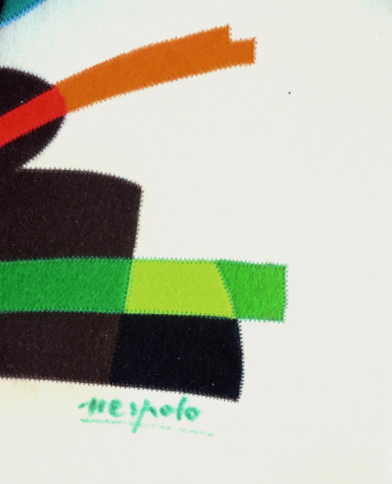 Untitled - Original Collage by U. Nespolo - 1976 For Sale 1