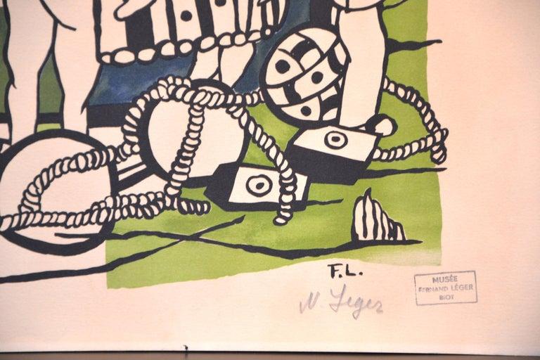 La Grande Parade - Original Lithograph by F. Léger - 1960s - Print by Fernand Leger