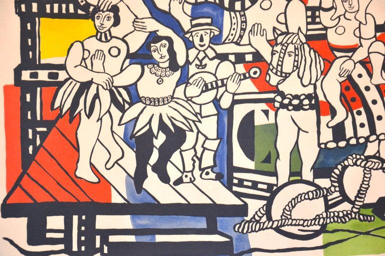 La Grande Parade - Original Lithograph by F. Léger - 1960s - White Figurative Print by Fernand Leger