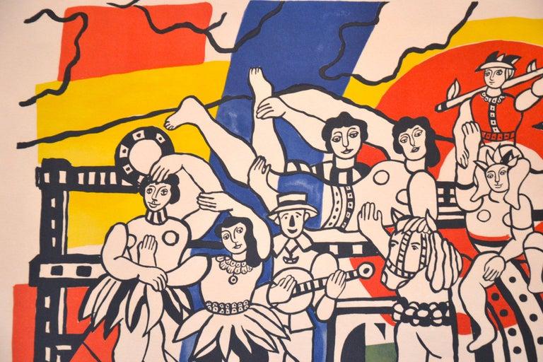 La Grande Parade - Original Lithograph by F. Léger - 1960s For Sale 1