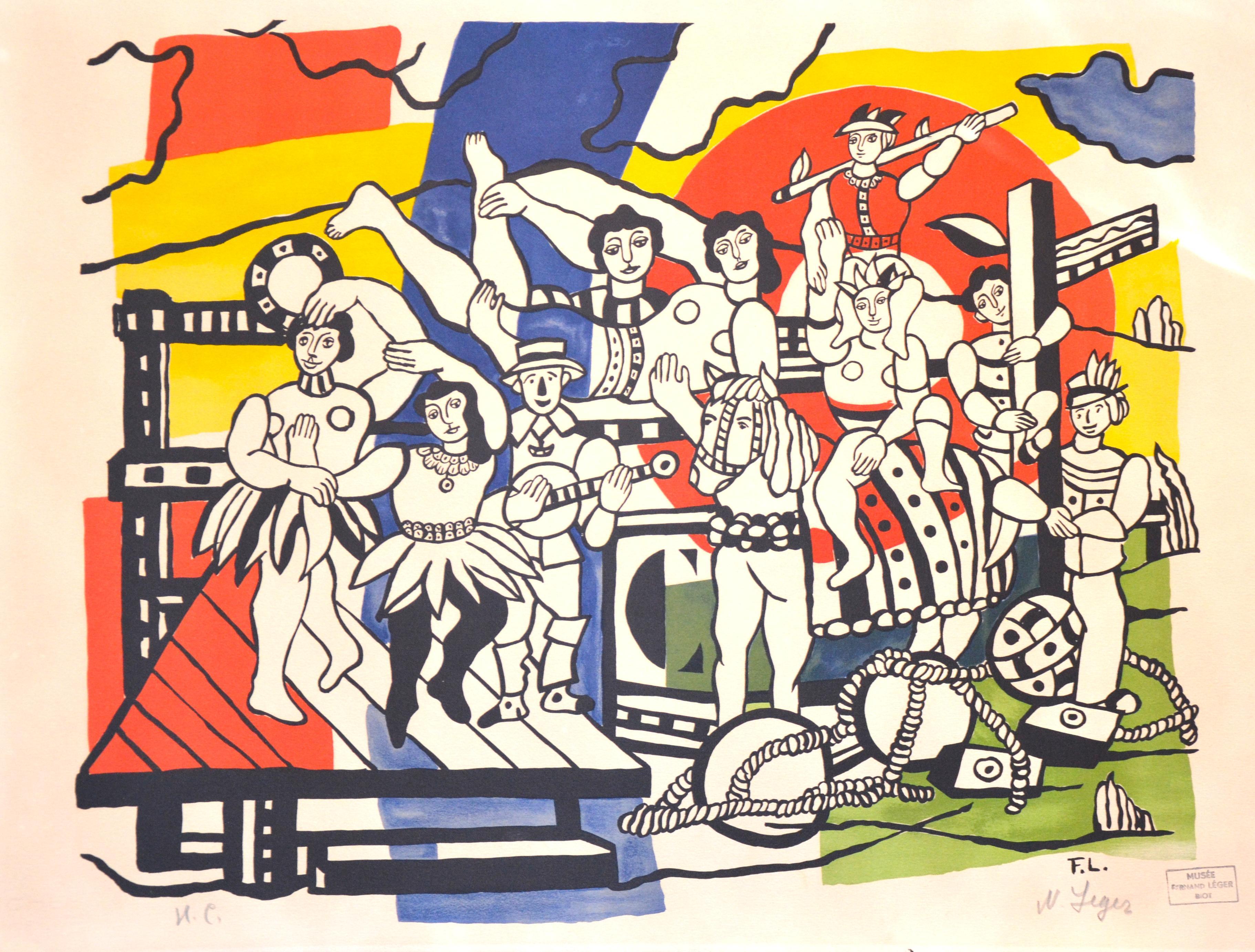 La Grande Parade - Original Lithograph by F. Léger - 1960s