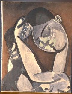 Femme se coiffant  - Original Stencil After Pablo Picasso - 1956
