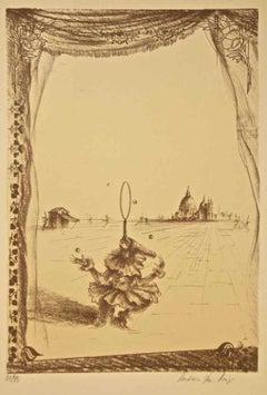 Juggler - Carnival in Venice - Original Lithograph - 1970s